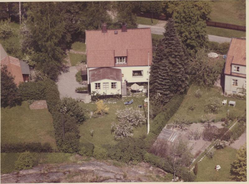 Flygbild på villa